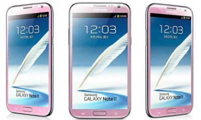 Samsung chính thức giới thiệu Galaxy Note II màu hồng