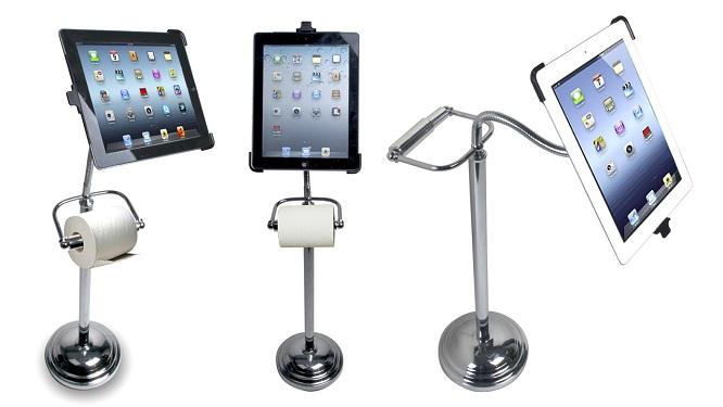 Khung đỡ iPad kiêm giá treo giấy vệ sinh được tung ra thị trường