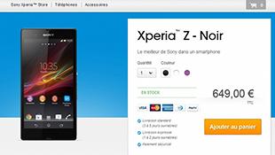 Sony Xperia Z bắt đầu được bán tại Pháp, 18 triệu đồng