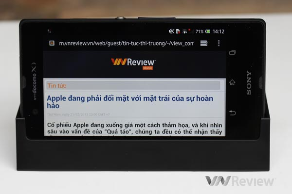 Trên tay điện thoại Sony Xperia Z tại Việt Nam