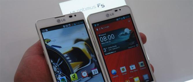 Cận cảnh bộ đôi LG Optimus F7 và Optimus F5