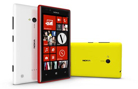 Nokia Lumia 720 có giá khoảng 6,8 triệu đồng, bán vào tháng Ba