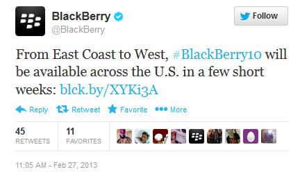 """BlackBerry Z10 ra mắt tại Mỹ """"trong vòng vài tuần tới"""""""