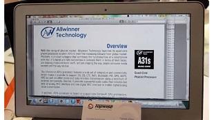 """Allwinner phát hành vi xử lý lõi tứ A31s cho """"phablet"""""""