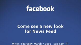 Facebook gửi giấy mời sự kiện 7/3, ra mắt News Feed mới