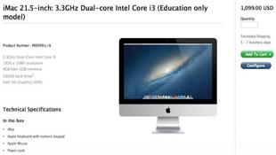 Apple ra mắt iMac 21.5 inch giá rẻ dành cho giáo dục