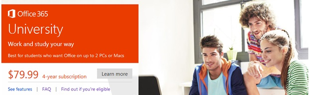 Microsoft tặng sinh viên 6 tháng dùng Office 365 miễn phí và 20GB SkyDrive