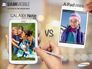 Samsung đưa ra 6 lý do chọn Galaxy Note 8.0 thay cho iPad Mini