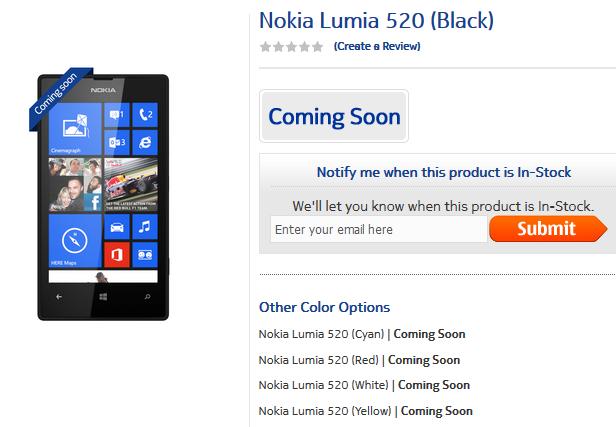 Nokie 520 sẽ ra mắt vào 2 tuần nữa