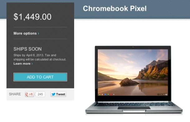 Chromebook Pixel đến tay người dùng vào ngày 8/4