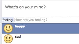Facebook thêm tính năng chia sẻ cảm xúc