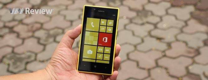 Trên tay điện thoại Nokia Lumia 720 chính hãng