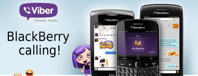 Viber hỗ trợ BlackBerry OS 5 và OS 7