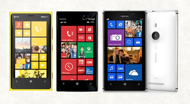 So thông số của Lumia 920, Lumia 928 và Lumia 925