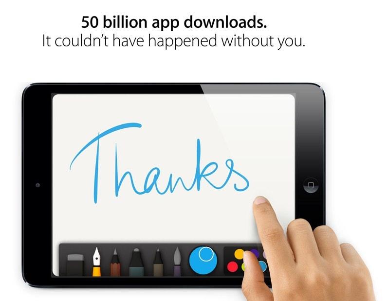 Kho ứng dụng của Apple đạt 50 tỉ lượt tải
