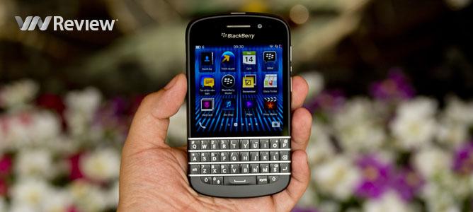 Trải nghiệm nhanh BlackBerry Q10: thiết kế chắc chắn, bàn phím tốt, màn hình đẹp