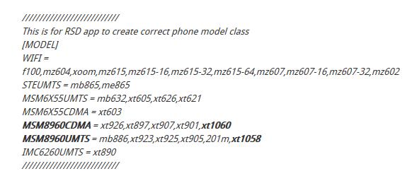 Motorola X-Phone xuất hiện trong driver của Motorola