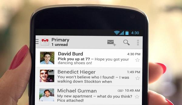 """Google """"gợi ý"""" về Android 4.3 trong quảng cáo Gmail mới"""