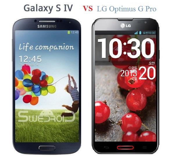 Galaxy S IV và LG Optimus G Pro