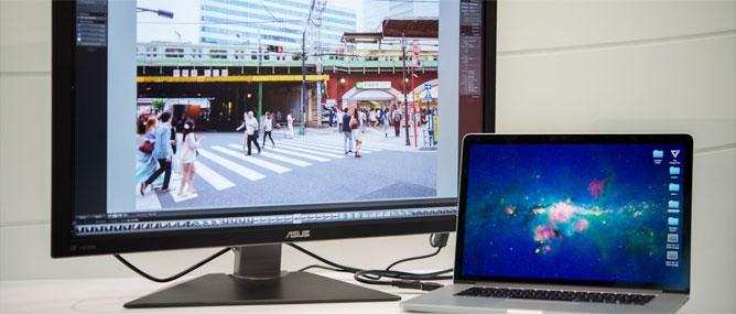 """Màn hình 4K của ASUS khiến MacBook Pro Retina """"vật vã"""""""