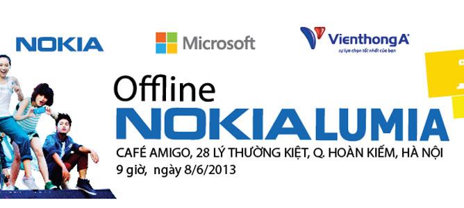 Offline trải nghiệm điện thoại Windows Phone 8 tại Hà Nội