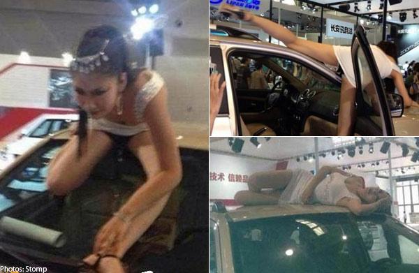 Bộ ảnh tư thế kỳ quặc của PG xe hơi đang hot trên mạng