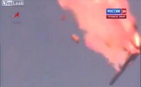 Video tên lửa Nga nổ tung trong không trung