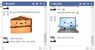 Facebook Sticker chính thức có mặt trên nền web
