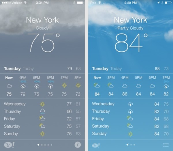 Những thay đổi ở các bản iOS 7 beta