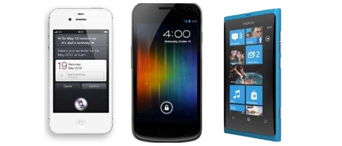 Đọ thông số Nokia Lumia 800, iPhone 4S và Galaxy Nexus