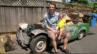 Bé gái 14 tháng tuổi mua xe hơi trên eBay