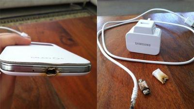 Samsung Galaxy S4 cháy khi sạc qua đêm