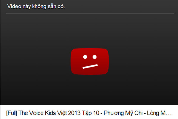 """Ai loại clip """"Lòng mẹ"""" của Phương Mỹ Chi khỏi YouTube?"""