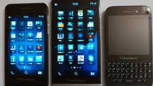 Lộ ảnh BlackBerry Z30 đọ dáng cùng Z10, Q5