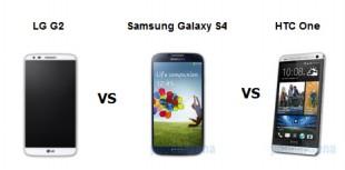 Đọ thông số LG G2, Samsung Galaxy S4 và HTC One