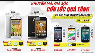 Khuyến mãi lớn khi mua Q-mobile từ ngày 25/8 đến 25/9