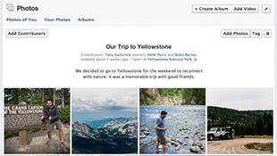 Facebook cho phép 50 người cùng upload ảnh cho một album