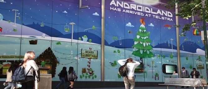"""Telstra và Google mở cửa hàng """"Androidland"""""""