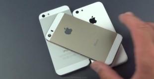"""iPhone 5S vàng sâm-panh """"sánh bước"""" cùng iPhone 5C trong video mới"""