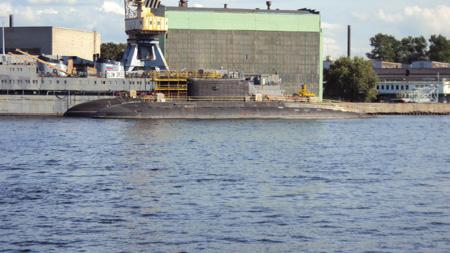 Hình ảnh tàu ngầm Kilo Hải Phòng hạ thủy