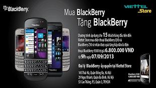 Mua Blackberry tặng ngay Blackberry