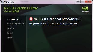 Lỗi không cài đặt được trình điều khiển Nvidia trên laptop Dell