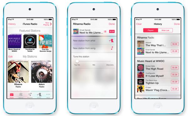 Apple ra iTunes Radio với hơn 200 tính năng