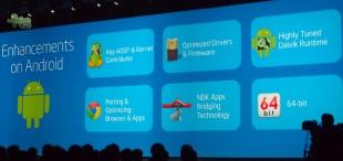 Android KitKat cũng hỗ trợ chip 64-bit như iOS 7