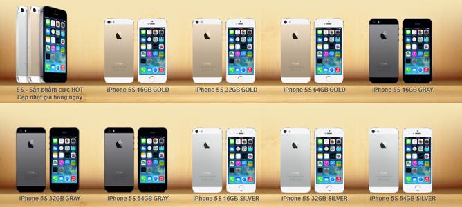 Giá iPhone 5s, 5c và các đời iPhone cũ hiện biến động thế nào?