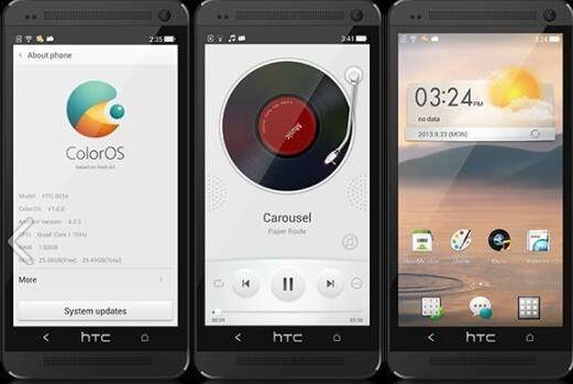 Cài đặt Color OS của OPPO N1 dành cho HTC One