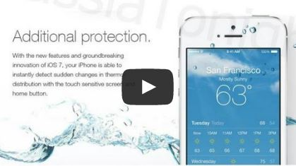 Bị lừa nâng cấp lên iOS 7 để iPhone... chống nước