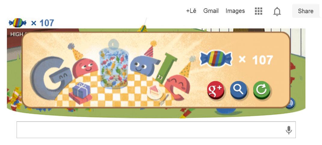 Google tặng kẹo người dùng nhân sinh nhật 15 tuổi