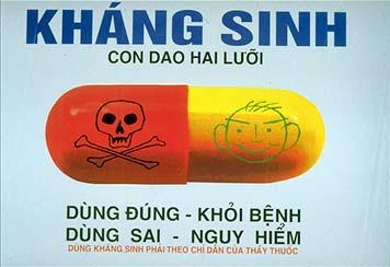 Lạm dụng thuốc kháng sinh làm gia tăng bệnh tật.