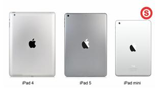"""Video iPad 5 """"đọ dáng"""" với iPad 4 và iPad Mini"""